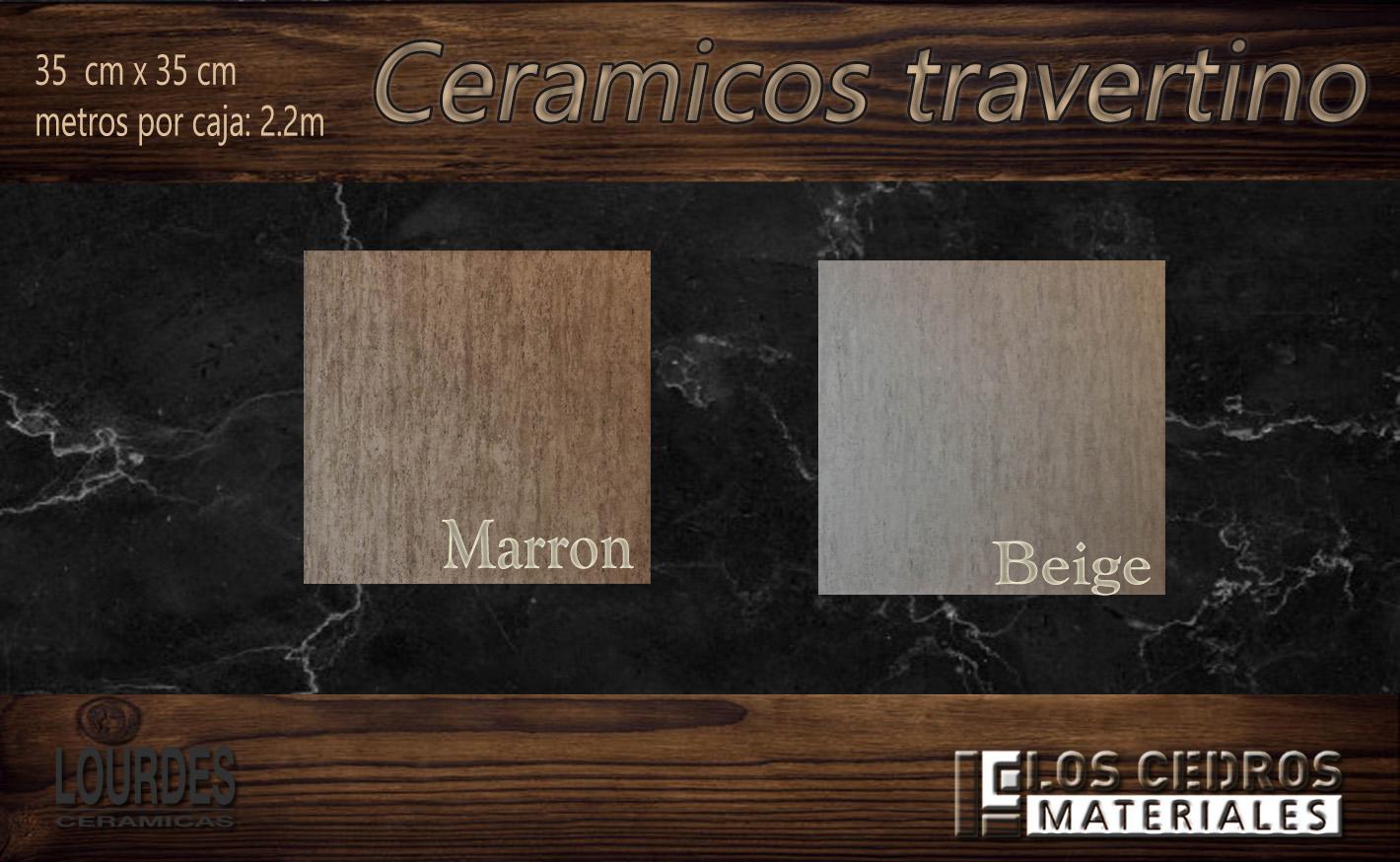 ceramicos travertino