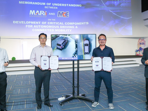 MARii and MCE ink MoU to develop critical components for autonomous driving and connected mobility