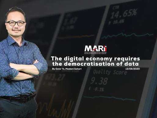 The digital economy requires democratisation of data