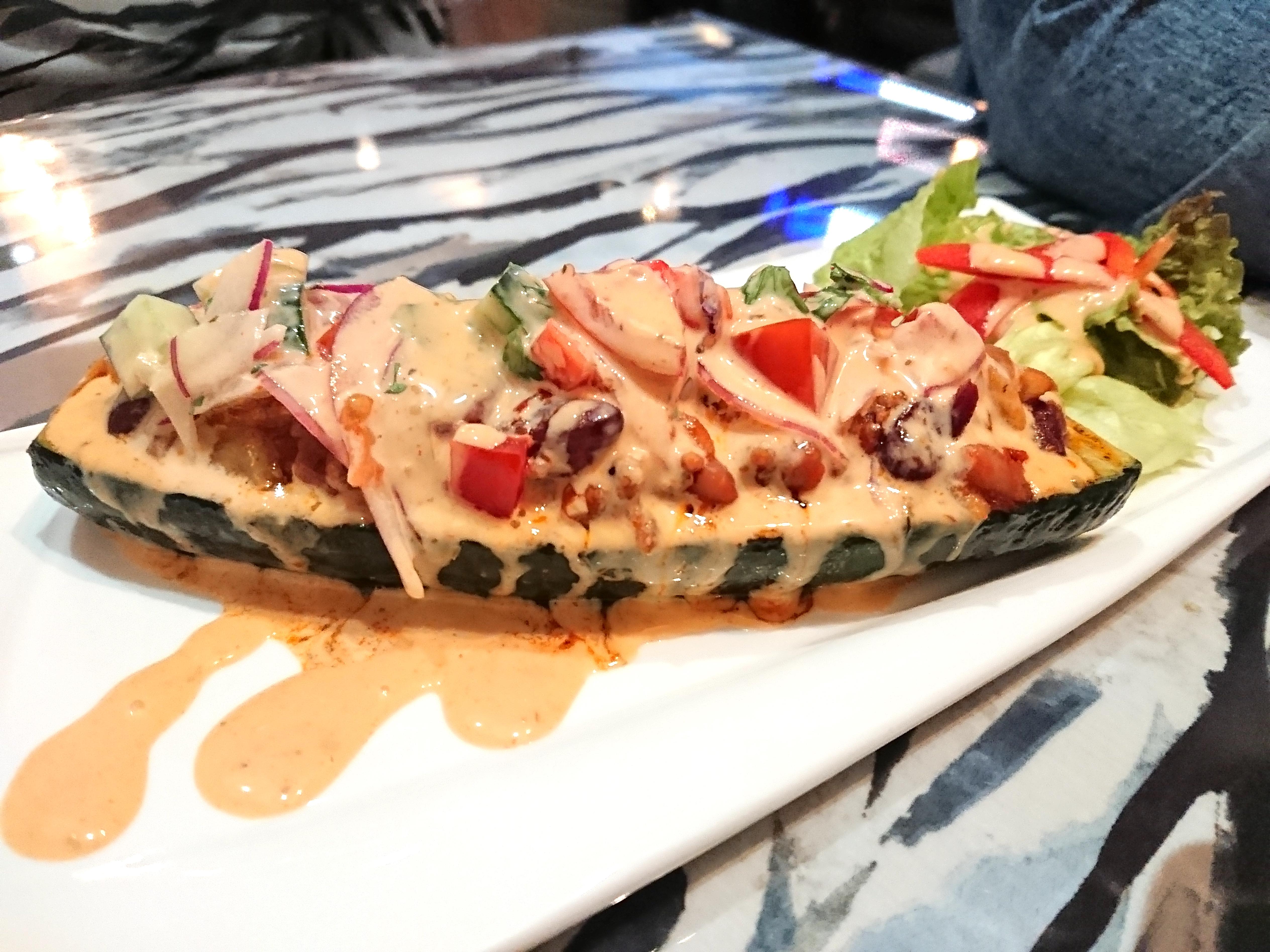 taco sauce zucchini boat