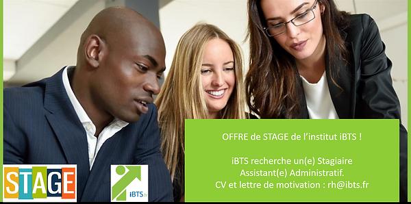 iBTS recherche 1 stagiaire Administratif