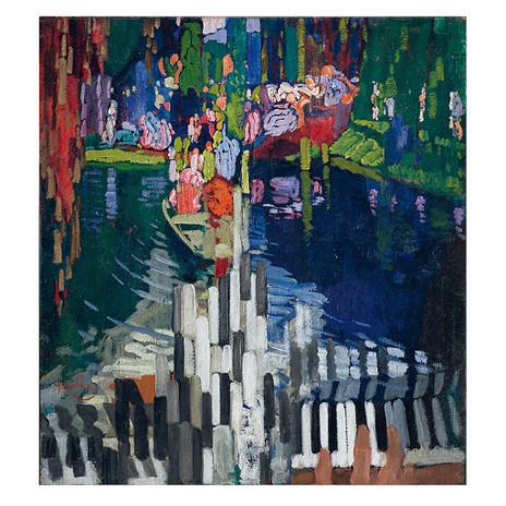 Franz Kupka, Les Touches de piano. Le Lac