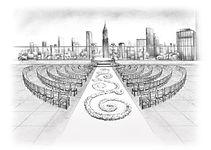 Wedding ceremony design sketch