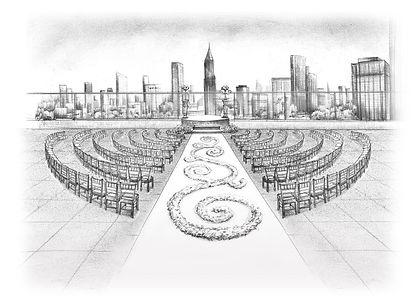 Wedding reception sketch Ventanas Wedding Atlanta