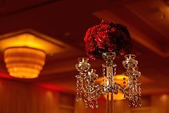 Crystal red reception centerpiece Alakija Studios