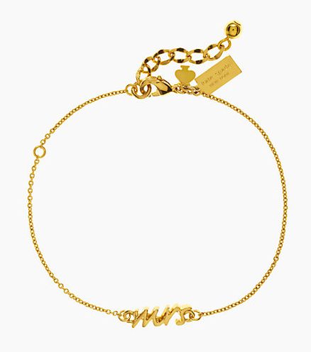 Gold Kate spade mrs bracelet