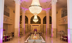 Nigerian Wedding Planner Purple modern wedding reception in Atlanta, GA 200 Peachtree Fotos by Fola