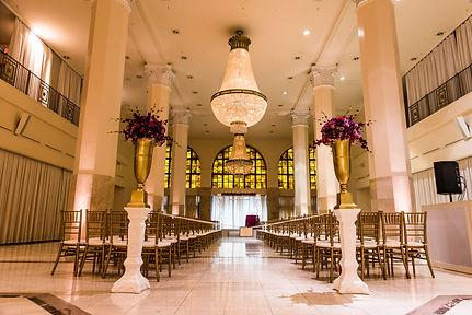 Purple 200 Peachtree Wedding ceremony