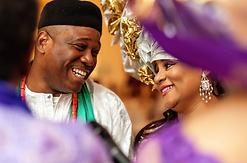 Igbo couple at traditional wedding