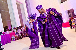 Nigerian Wedding Planner Purple and fuschia Nigerian white wedding reception in Savannah, GA Jepson Center for the Arts Fotos by Fola
