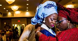 Nigerian Wedding Planner navy blue and gold Nigerian traditional wedding in Oklahoma City, OK Fotos by Fola