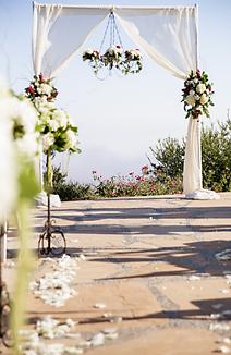 Wedding ceremony draping