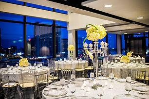 All white wedding reception at Ventanas Fotos by Fola