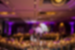 Purple and pink wedding reception with uplighting at the Westin Fotos by Fola