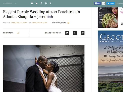 Atlanta Purple wedding featured on Munaluchi Bride Fotos by Fola