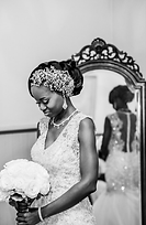 Bride with bling headpiece