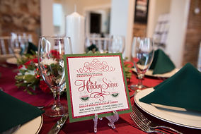 Holiday christmas party tablescape