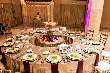 Purple 200 Peachtree Wedding reception