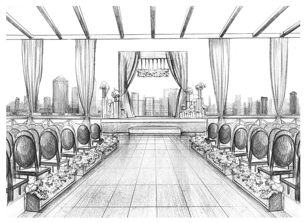 Peachtree Club Wedding sketch_Atlanta Wedding Planner