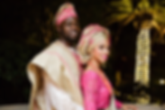 Pink and gold nigerian traditional attire yoruba wedding malibu, CA