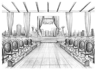 200 Peachtree Wedding ceremony sketch