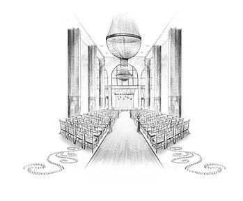 200 Peachtree Wedding ceremony sketch