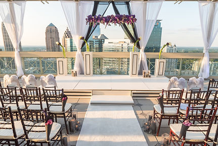 Purple 200 Peachtree Wedding ceremony