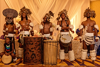 Nigerian Wedding Planner African drummers and dancers for Igbo Nigerian traditional wedding in Atlanta, GA Morrow Center Alakija Studios