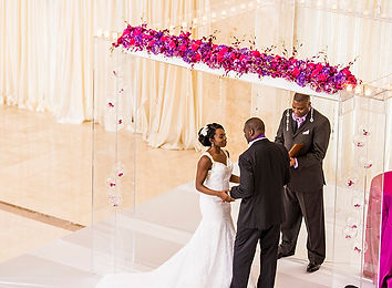 Modern purple and fuschia wedding at 200 peachtree