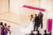 Acrylic chuppah purple wedding at 200 Peachtree Fotos by Fola