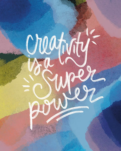 Creativity Super Power on colorful
