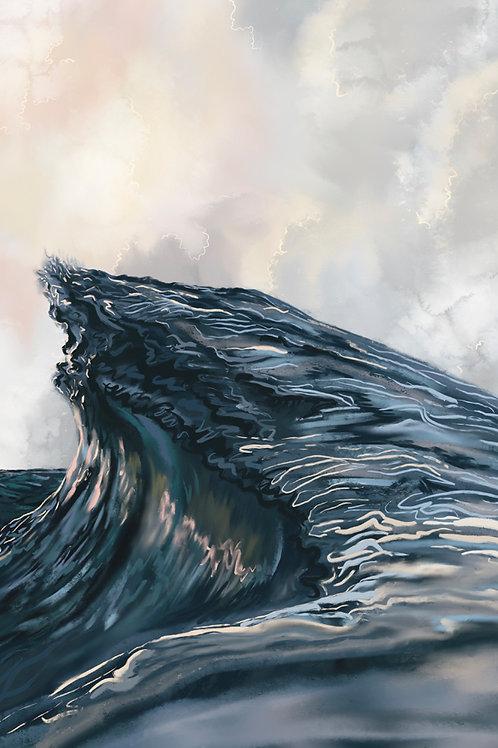 """Angry Seas (V)"" vertical canvas print"