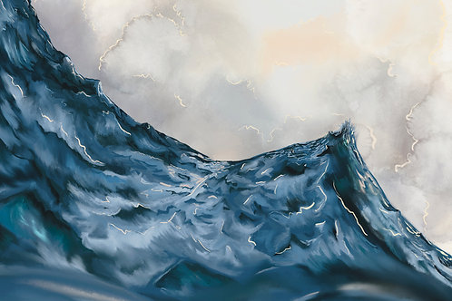 """Angry Seas (III)"" horizontal canvas print"