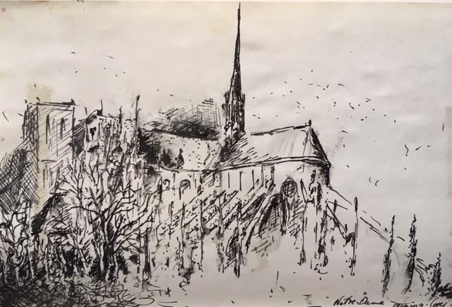 Notre Dame New Year's morning, iaindryden.com
