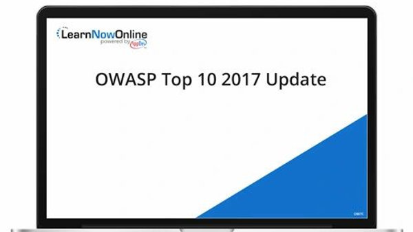 OWASP Top 10 2017 Update - ELearning