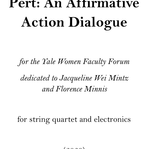 Pert: An Affirmative Action Dialogue