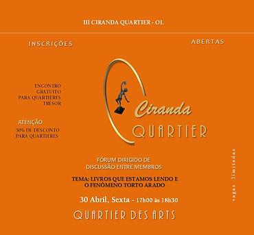 CONVITE FACE - III CIRANDA QUARTIER, DE