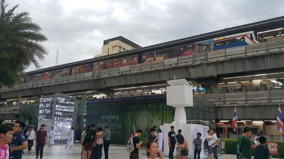 Região central de Bangkok onde fica os principais shoppings