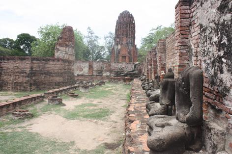 Olhe como foi completamente destruída pelos birmaneses em Ayuthaya