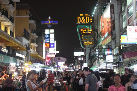 A famosa Khao San Road