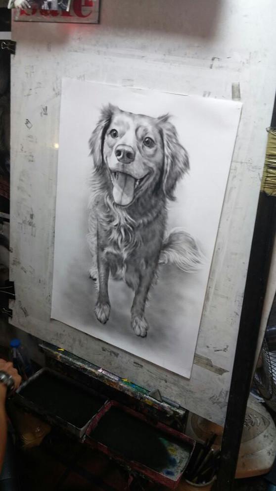 Antônio representado em um desenho