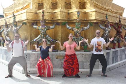 Posando para a foto no Grand Palace