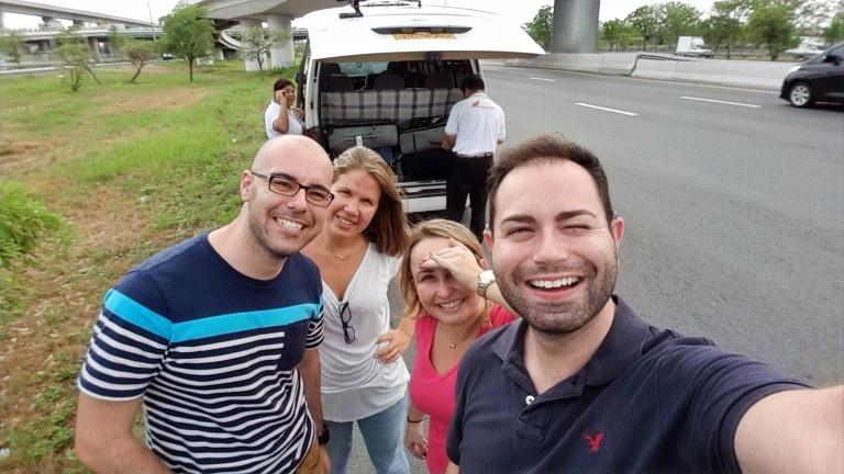 Saindo do aeroporto de Bangkok