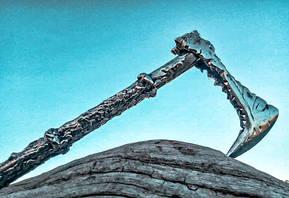Metal Art War & Replicas Sculptures Ax