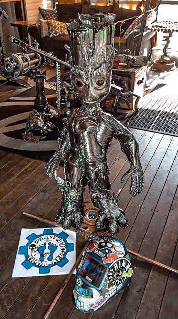 Groot Barefooted Welder Metal Art Sculpture Australia