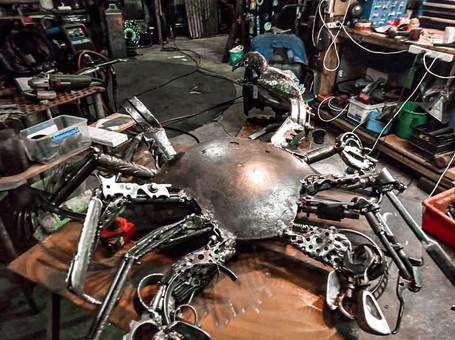 Barry the Crab Barefooted Welder Metal Art Sculpture Australia