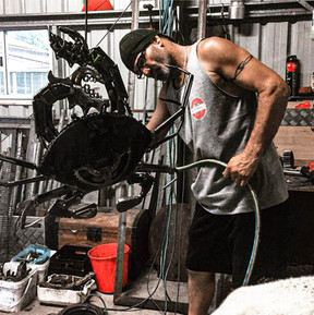 Barry the Crab Barefooted Welder Metal Art Sculpture Australia MickyD