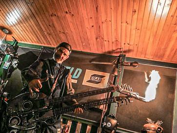 Cocaine & Abel Guitar Barefooted Welder Metal Art Sculpture Australia