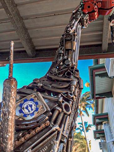 The Dancing Brolga Barefooted Welder Metal Art Sculpture Australia