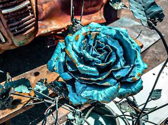 Custom-made Metal Art Handmade Roses Metal Art Personalised Gifts